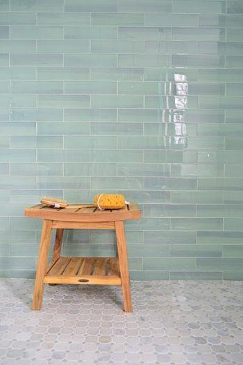backsplash tile in seaglass colors - Google Search Manda and