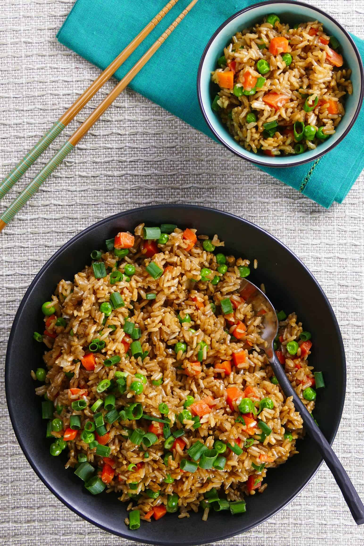 Healthy Chinese Style Instant Pot Brown Rice And Vegetables Recipe Fried Rice Instant Pot Recipes Brown Rice Recipes