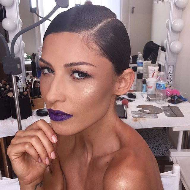 #tbs #bts #oldfave #classic#purple #vamp #beauty #face #skin #glow #structure #beautybynickyposley #nickyposley #nycmakeupartist #njmakeupartist #beautyeducator #fashion #editorial #photography #model @elladarr #hair @cocoamane