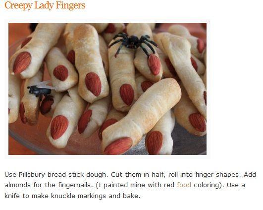 Lady Fingers - Halloween Food | Halloween food desserts ...