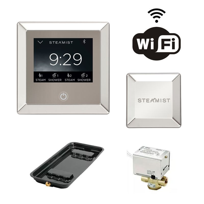 Steamist CP450 Total Sense Steam Spa Control Package with Wi-Fi Controls Auto D Polished Nickel Steam Showers Steamroom Control Packages Residential