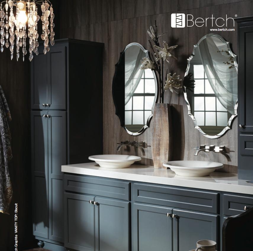 . Finish color of Bertch vanity   Graphite   Vanities   Bertch