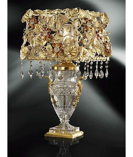 Clear Crystal Tiepolo Table Lamp Vintage Table Lamp Crystal Table Lamps Luxury Lamps