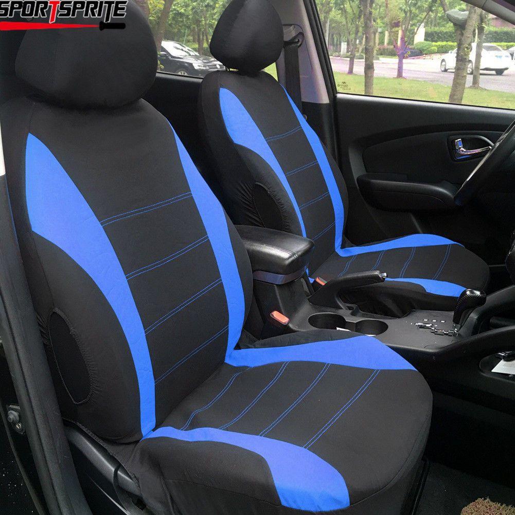 Nice Amazing Car Seat Covers Blue Black 9pcs Set For Truck W Back