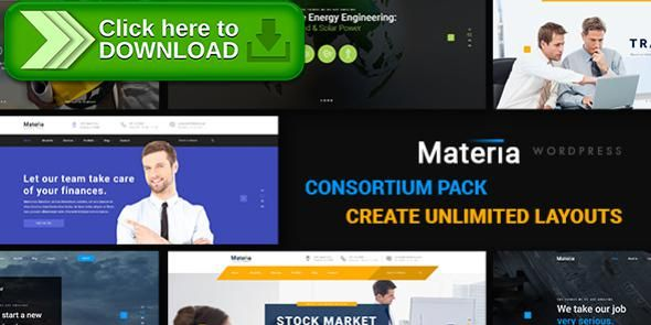 Free nulled Materia - Consortium Pack WordPress Theme download - business finance spreadsheet template