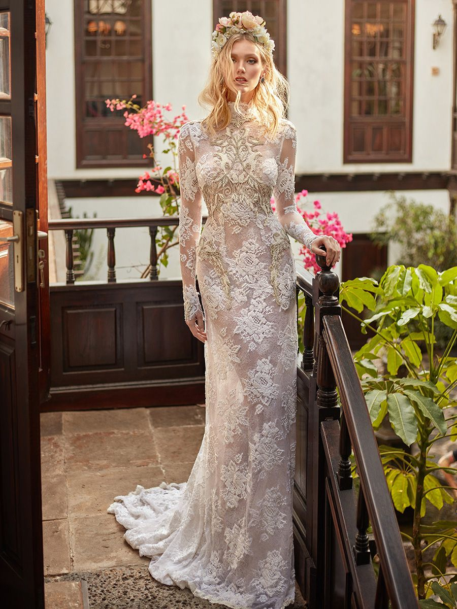 Closed Back Mermaid Wedding Dress