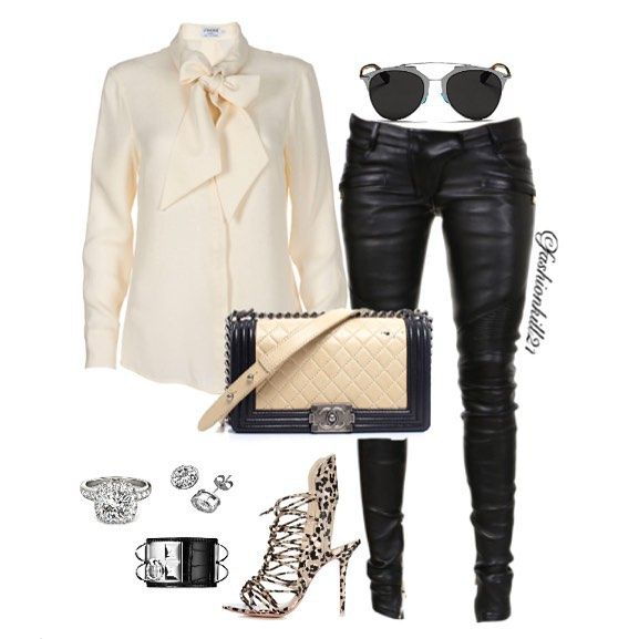 e793c55b60fdd She Has Lots Of Style DETAILS: Shirt #Framedenim Sunglasses #Dior Pants  #Balmain Purse #Chanel Shoes #Sophiawebster Earrings #Foreverbrilliant  Bracelet ...