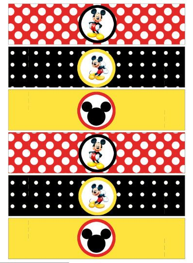 napkin ring mickey mouse party printable party by worldwideparty 350 - Mickey Mouse Pictures Printable