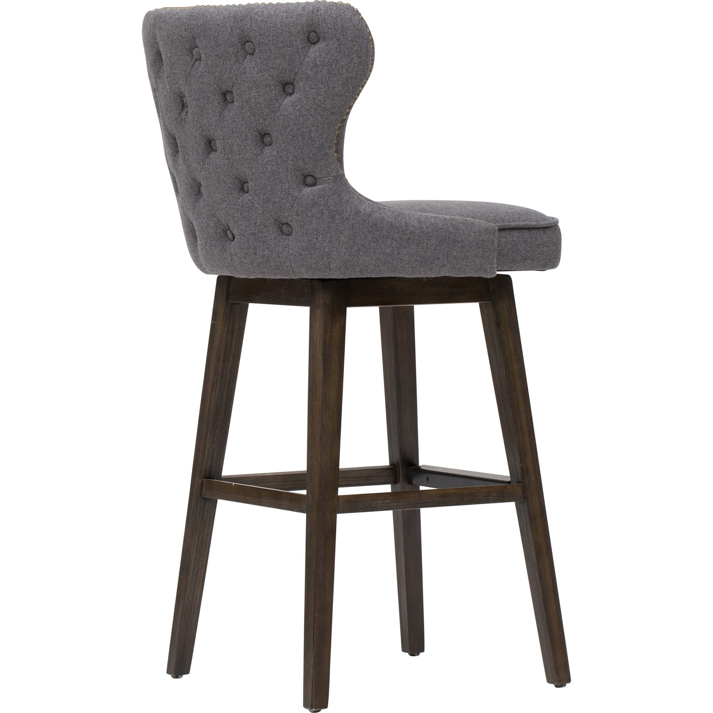 Ariana Swivel Bar Stool Dark Grey Swivel Bar Stools Swivel