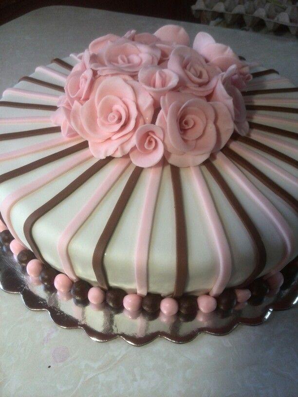 Torta Con Rosas Tortas Para Dama Birthday Cake Cake Y