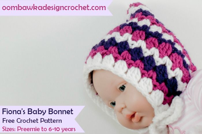Fiona\'s Baby Bonnet Pattern | Tejidos bebe, Tejido y Bebe