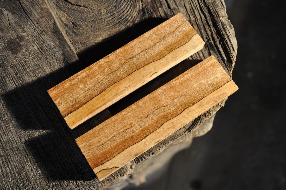 details about 2 piece maple knife handle scales 5 5 x 1 375 x