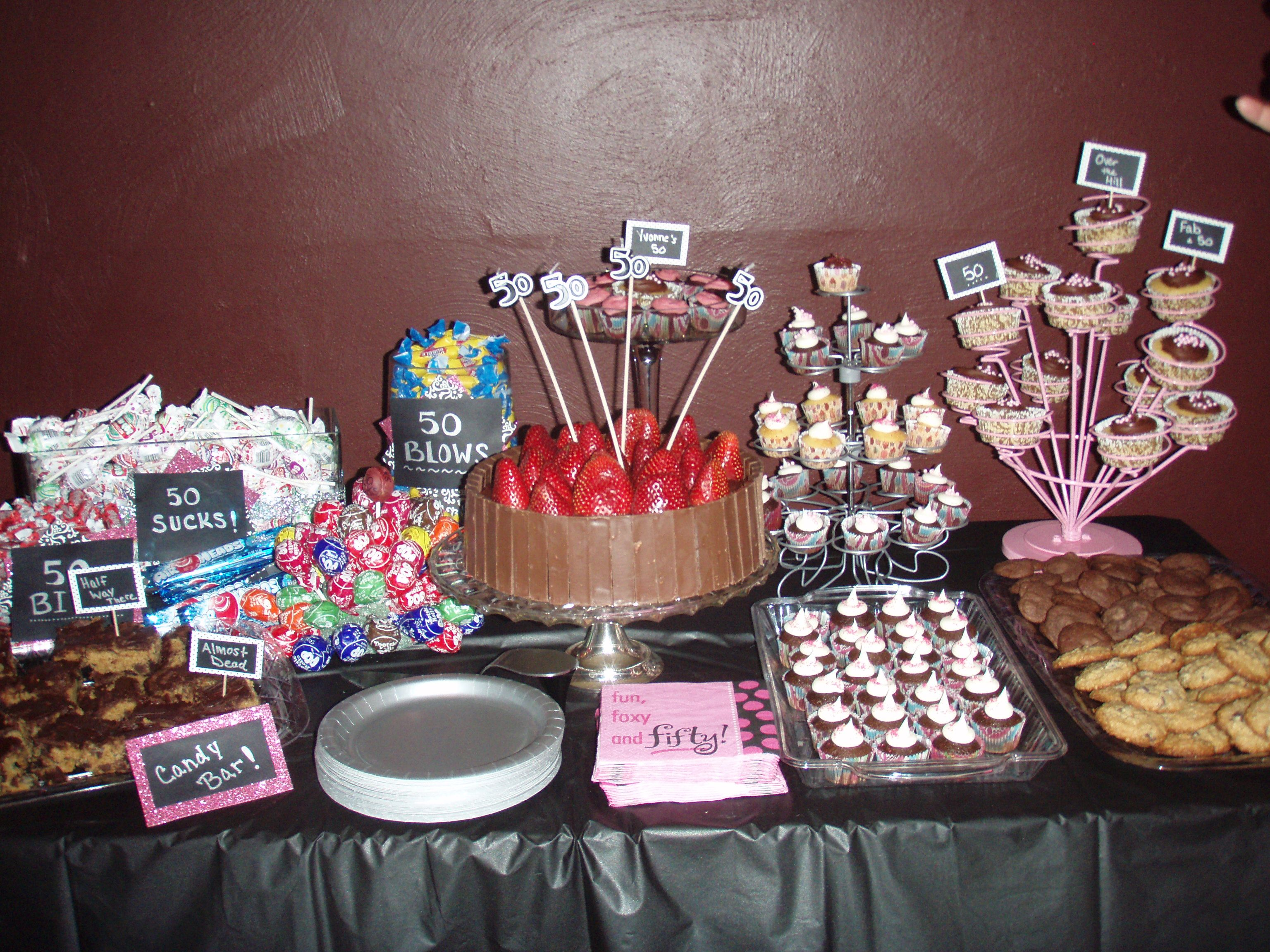 Awesome Dessert Table Idea!! Summer Arranged This For Her