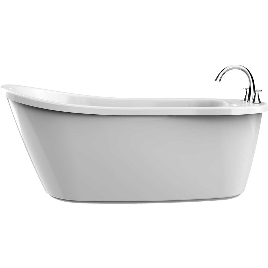 Jacuzzi Piccolo White Acrylic Oval Freestanding Bathtub With ...