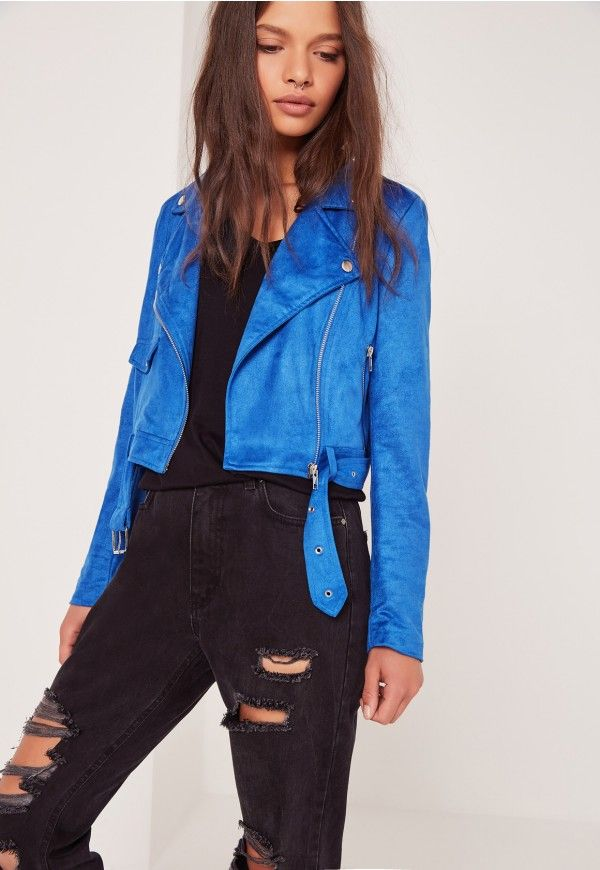 "Missguided: good things come in small packages. shop our missguided petite range, for babes 5'3"" and under. are you faux real?! our love for all things faux suede has reached new heights this season, and this ballin' biker jacket in blue is making us ..."