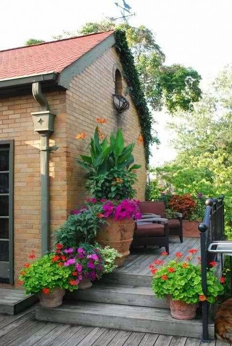 Pasillo con macetas mi patio pinterest jardines - Patios con macetas ...