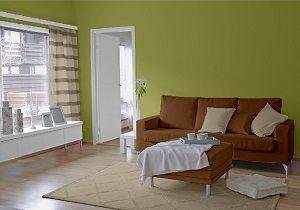 Farbgestaltung für ein Wohnzimmer in den Wandfarben: Bamboo ...