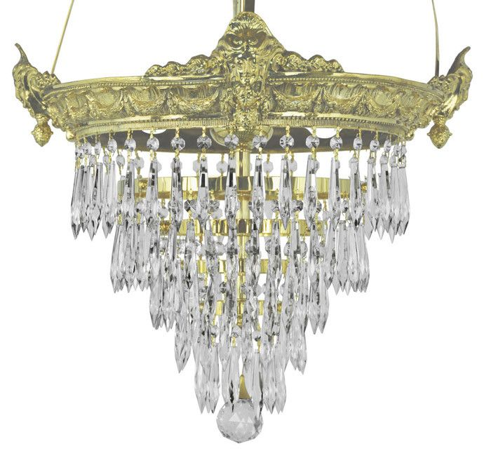 Victorian Style Chandeliers | Victorian Chandelier - Empire Style Crystal Prism Chandelier (93-CRS ...