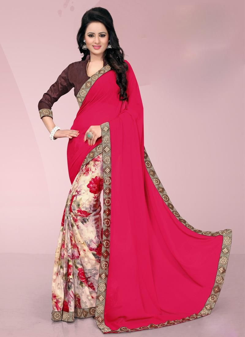 Off saree model images blissful multi colour brasso casual saree  casual style sarees
