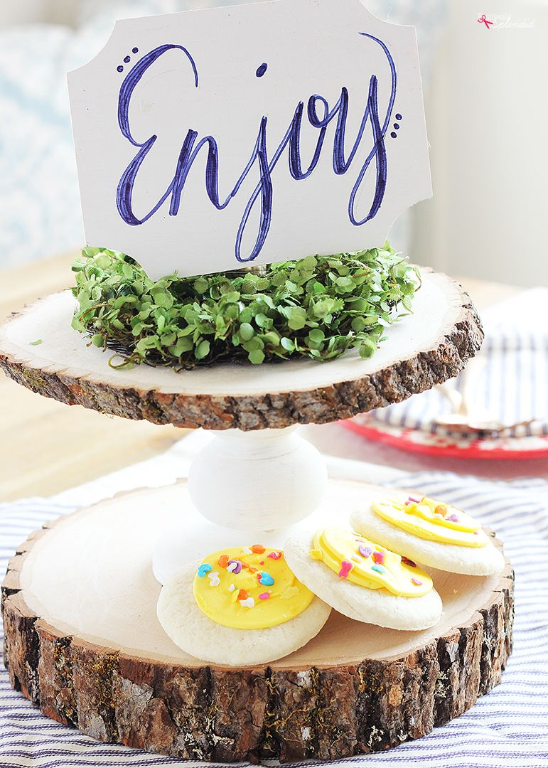 Diy rustic wood cake stand great for weddings home decor and more