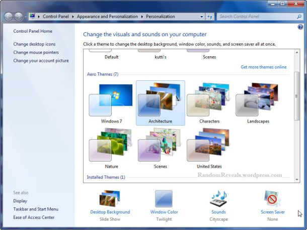 How to unlock hidden themes in windows 7 (With images