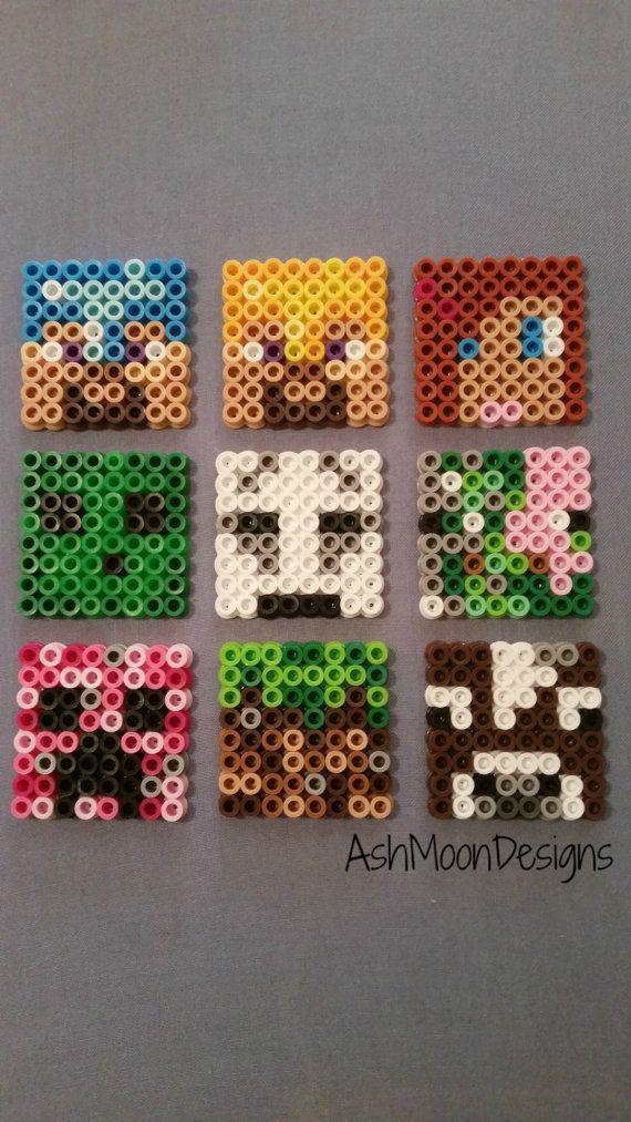 Minecraft Perler Bead Schlüsselanhänger Magneten Von Ashmoondesigns