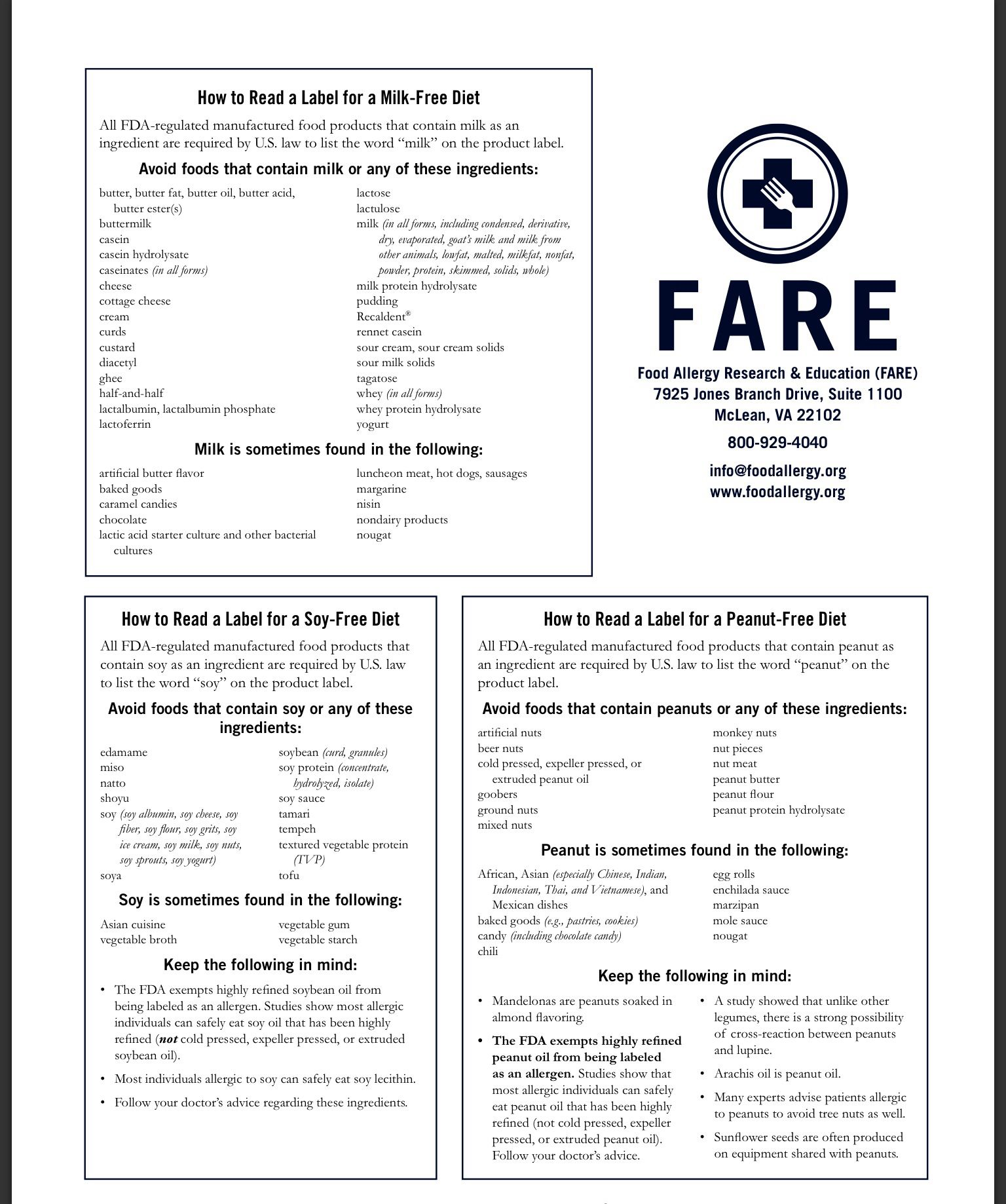 How To Read A Label For Milk Soy And Peanut Food Allergy Research And Education Food Allergies Awareness Reading Food Labels Food Allergies