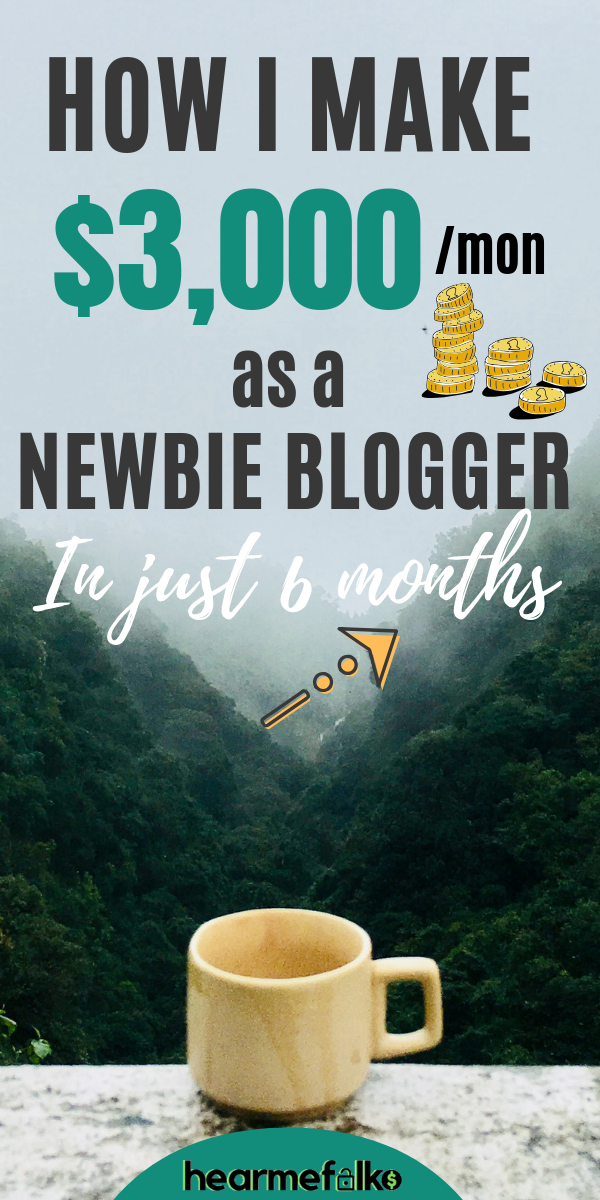 How This Newbie Blogger Makes $3000 per Month in J