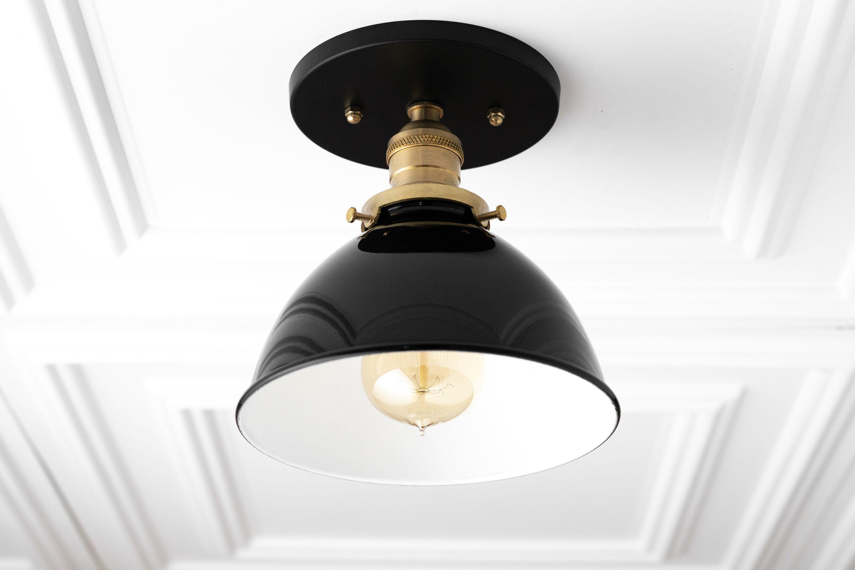 Black Ceiling Light Rustic Lighting Flush Mount Light
