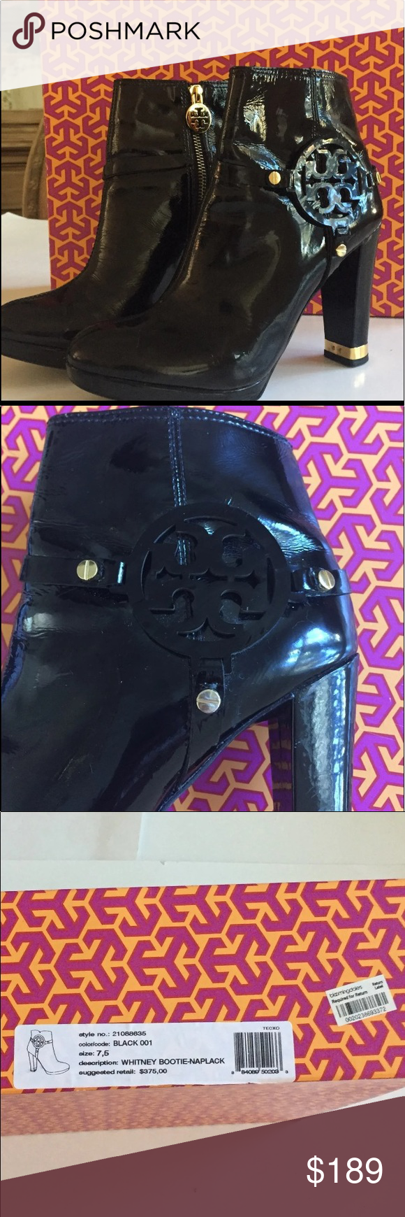 267319520970 Tory Burch Whitney Bootie-7.5 From Bloomingdales paid 375. Plus tax. As you