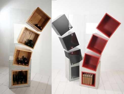 Prateleiras Inclinadas: Beleza Divertida   Bookshelf design ...