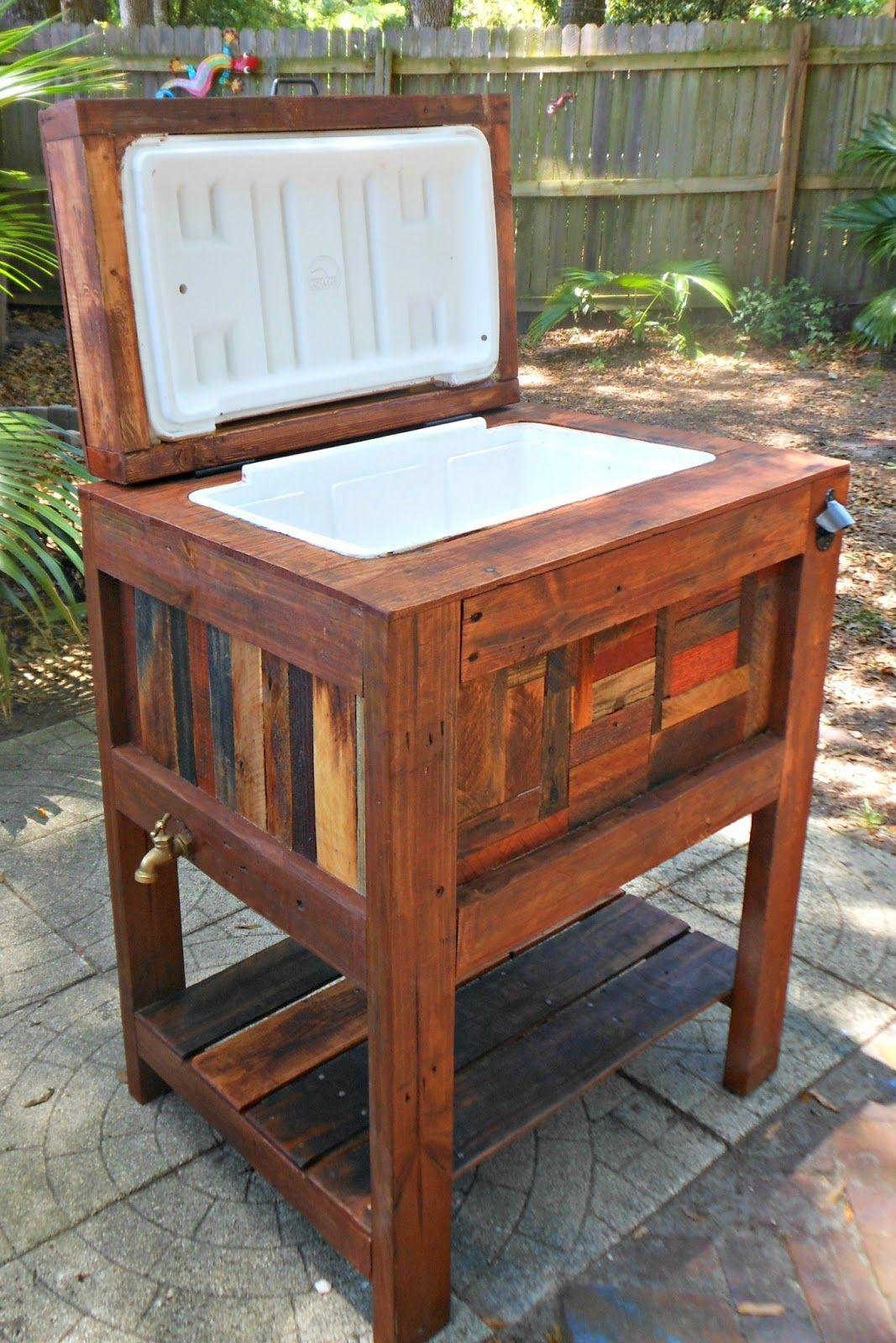 deck cooler diy - Garden Furniture Made Out Of Decking