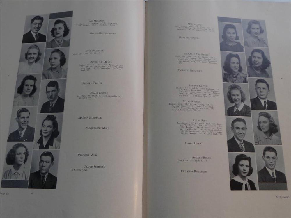 1940 Southwest High School St Louis Missouri Original Yearbook