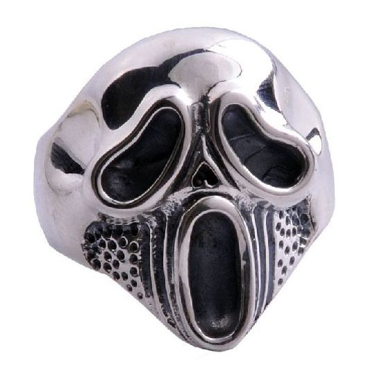 CET Domain SZ15134810 Hard Core Screaming Skull Ring .925 Silver Jewelry for MenSize 10 silver skull ring