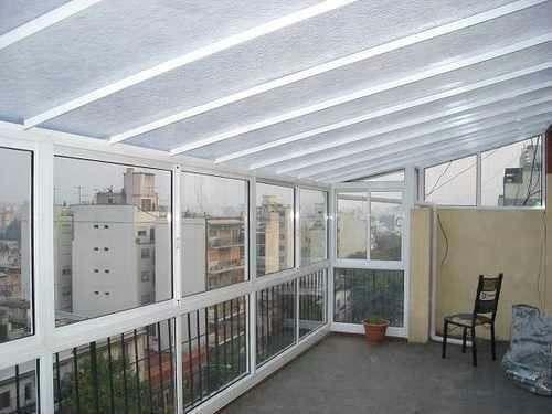 Cerramientos de aluminio techos vidriados piel de vidrio for Cerramiento aluminio terraza