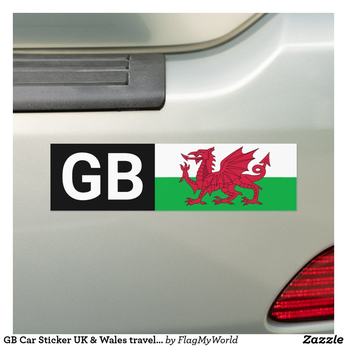 Gb Car Sticker Uk Wales Travel Abroad Welsh Flag Zazzle Com Wales Travel Welsh Flag Travel Abroad [ 1106 x 1106 Pixel ]
