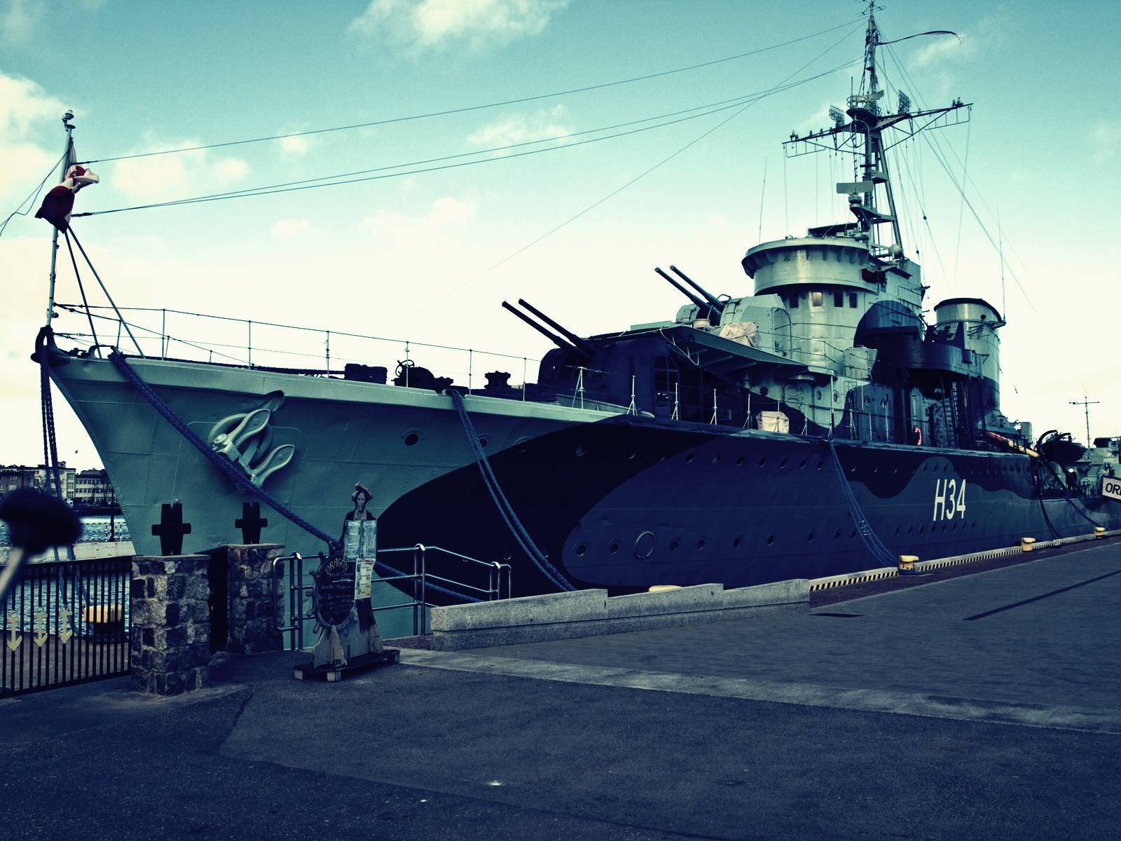 'ORP Błyskawica' Gromclass destroyer Warship, Photo