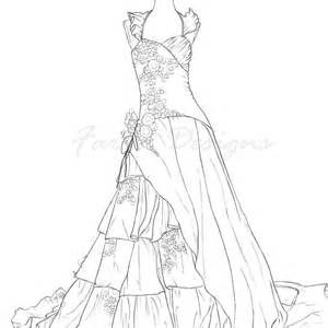 Ball Gown Coloring Pages Coloring Pages For Girls Barbie Coloring Pages Colorful Fashion