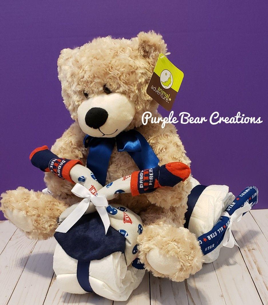 Baby boy tricycle teddy bear diaper creation on sale