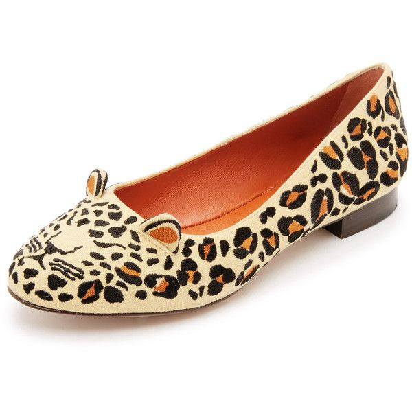 Charlotte Olympia Leopard Canvas Flats newest free shipping pictures free shipping Inexpensive prices 7PvquS3li