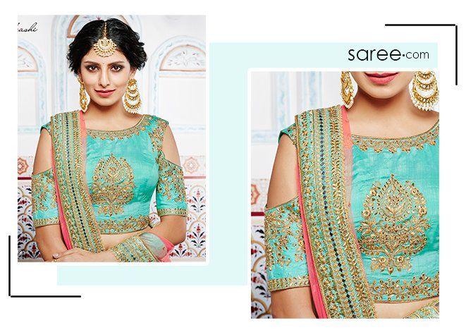 d9cf7a28ac842 10 Stylish Saree Blouse and Lehenga Blouse Designs 2019 [Infographic ...