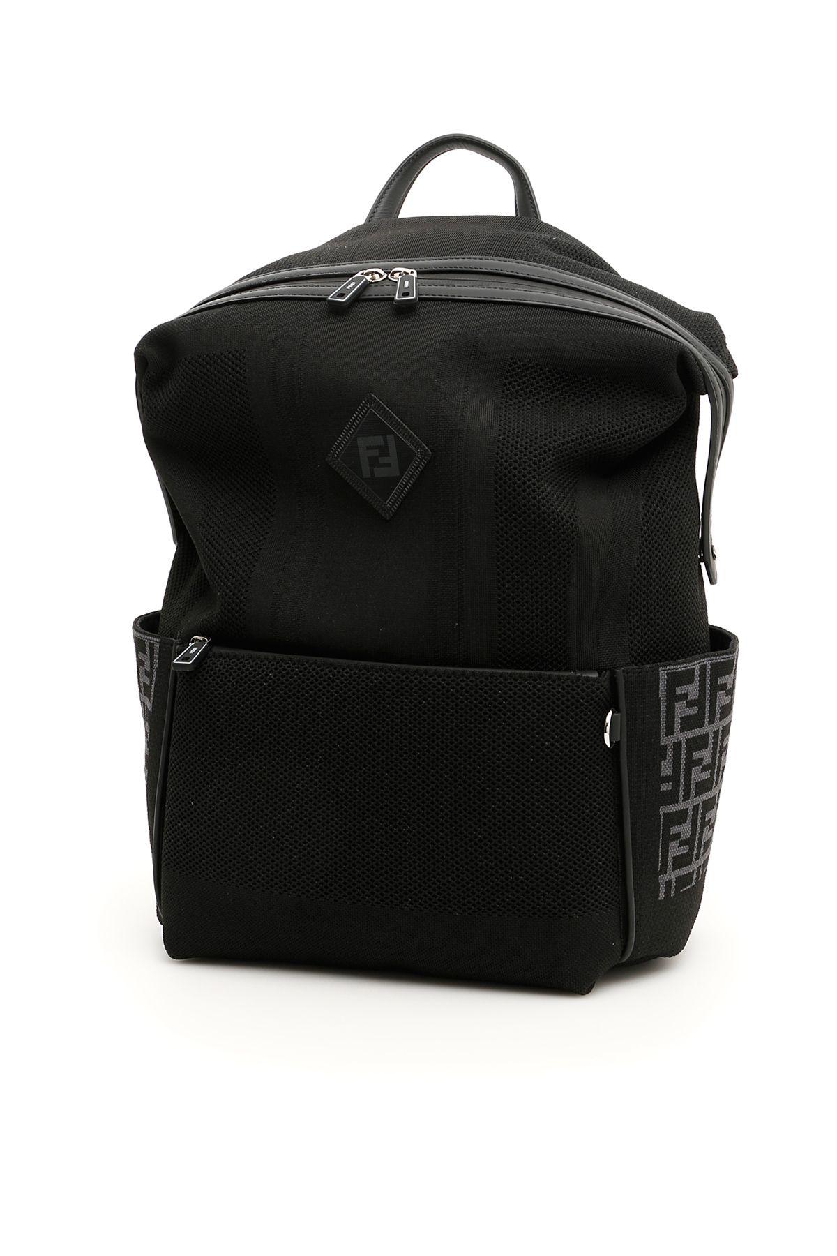 f19c4cff8f7e FENDI 黑色FF拼接背包.  fendi  bags
