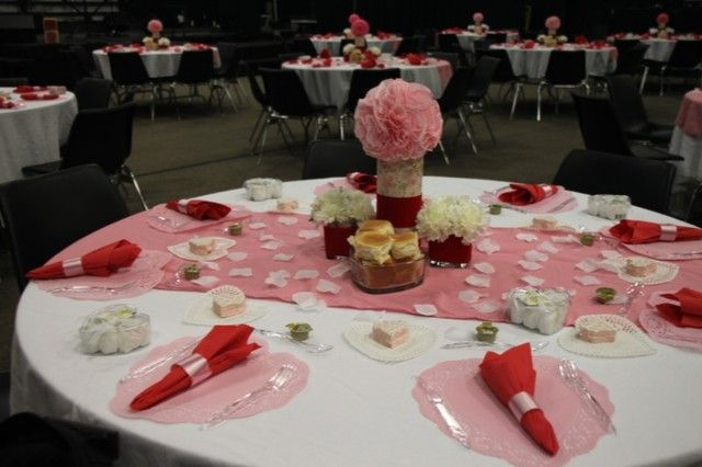 Valentines Dinner Church Dinner Party Party Ideas Banquet Deco