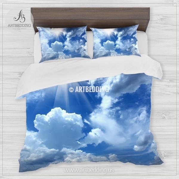 Beautiful Cloudy Blue Sky Bedding Queen King Full Twin