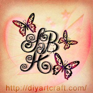 Acronym Sbh Butterflies Tattoo Inspirational Tattoos Birthday Tattoo Family Tattoos