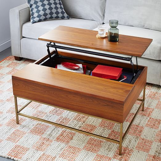 Walnut Coffee Tables With Storage Gallery Table Design Ideas