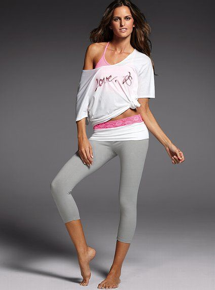 c916c38eba5d4b A fashion look from February 2012 featuring white top, Victoria's Secret  and legging pants.