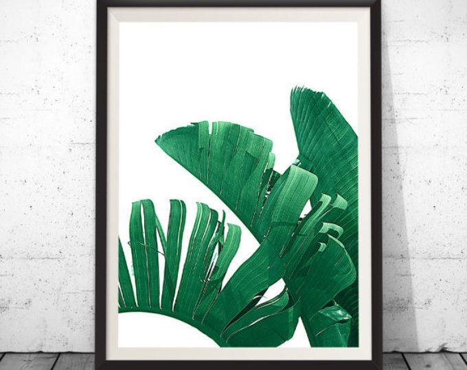 Tropical Print, Palm Leaf Print, Banana Leaf Print, Wall