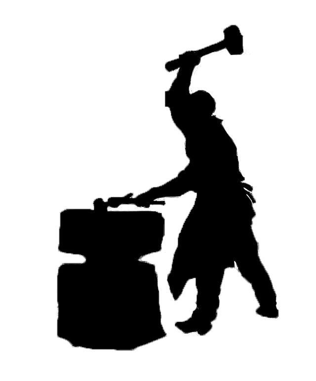 blacksmith silhouette clip art google search silhouettes rh pinterest com blacksmith hammer clipart blacksmith clipart black and white