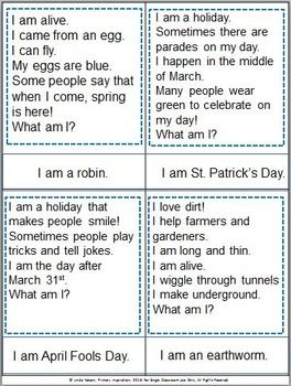 Spring Riddles Jokes And Riddles Riddles Speech And Language